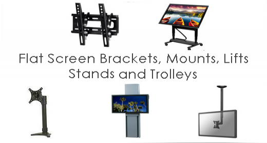 Flat Screen / Interactive Screen Mounts and Brackets